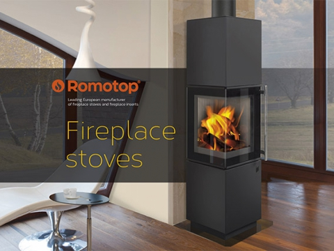 NEW CATALOGUE of ROMOTOP FIREPLACE STOVES