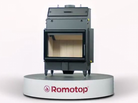 Romotop HEAT W 2g 70.50.01 - fireplace insert with hot-water exchanger