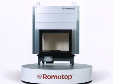 Romotop HEAT 2g L 66.50.01 - hot-air fireplace insert with lifting door