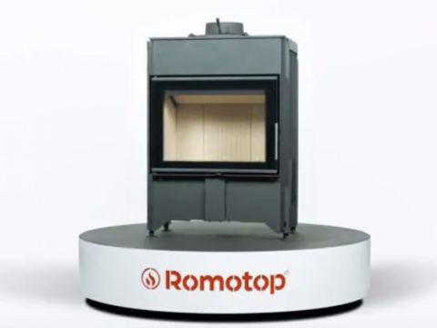 Romotop DYNAMIC 2G 66.50.01 - straight fireplace insert with double glazing