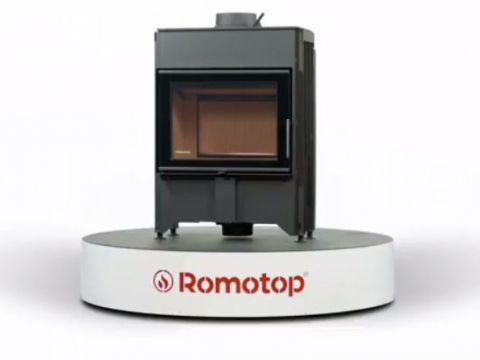 Romotop DYNAMIC B2G 66.50.13 - straight fireplace insert with back stoking and triple glazing