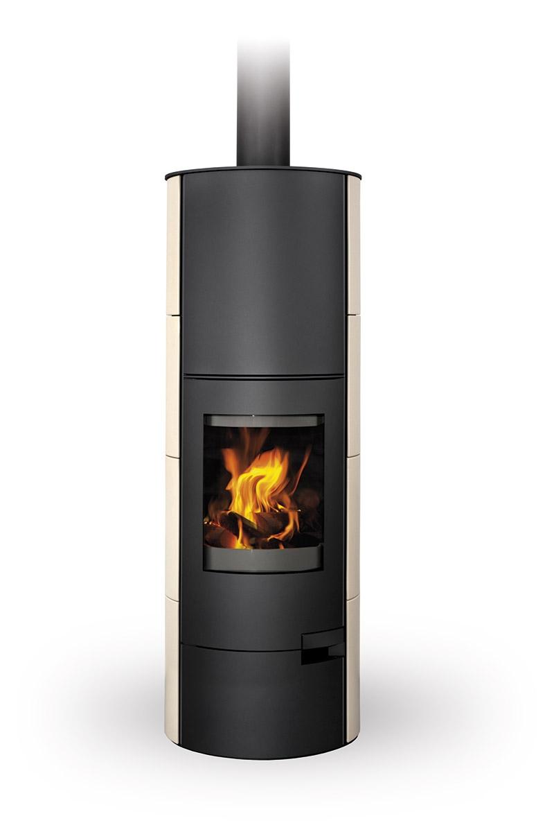 Romotop accumulation fireplace stove LUGO 01 A ceramic ...