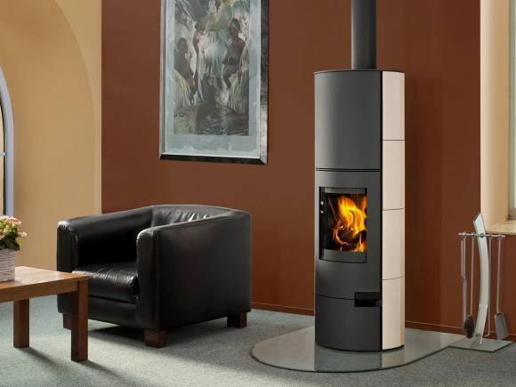 LUGO 01 AKUM ceramic - accumulation fireplace stove