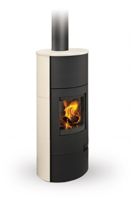 LUGO 01 W ceramic - fireplace stove with water exchanger