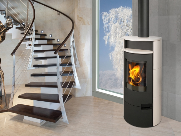 LUGO 01 ceramic - accumulation fireplace stove