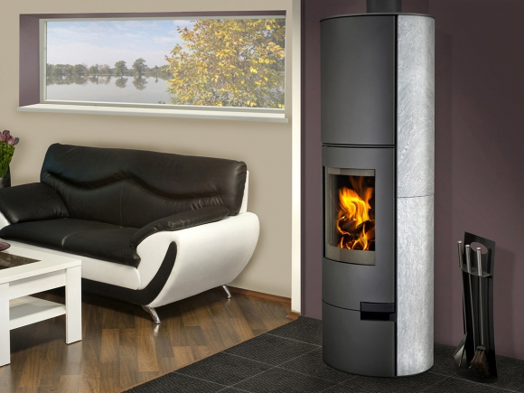 LUGO 02 AKUM serpentine - accumulation fireplace stove
