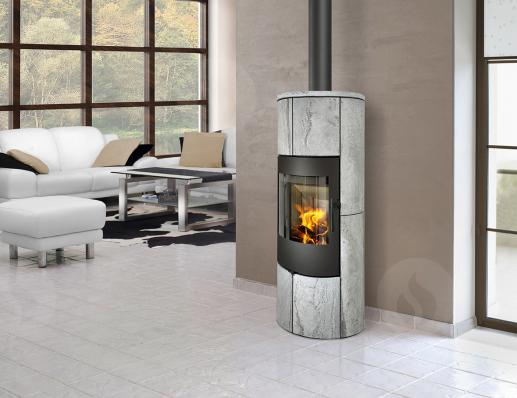 PALEA 02 AKUM serpentine - accumulation fireplace stove