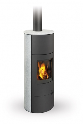LUGO 02 W stone - fireplace stove with water exchanger