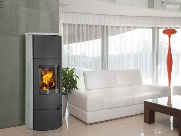 LUGO 02 stone - fireplace stove with water exchanger