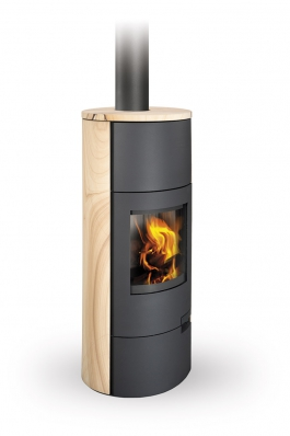 LUGO 04 sandstone - fireplace stove with water exchanger