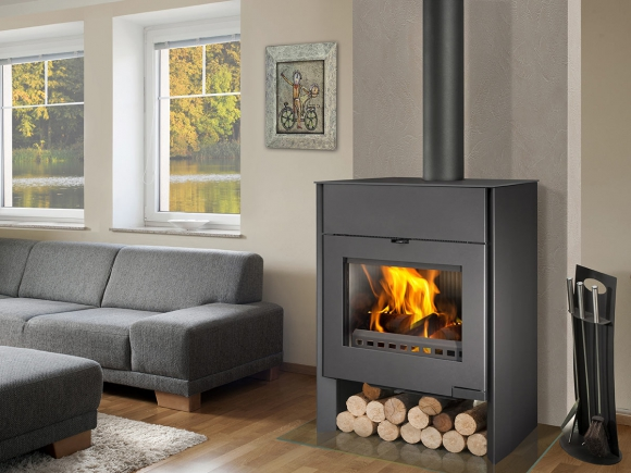 RIANO 01 W sheet metal fireplace stove with water exchanger