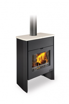 RIANO 02 W ceramic - fireplace stove with water exchanger