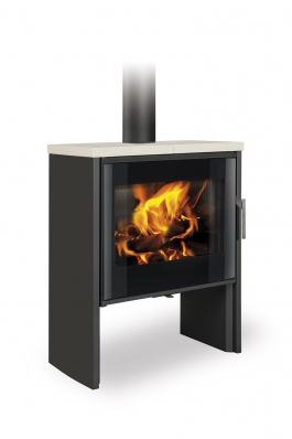 RIANO N 04 steel + ceramic - fireplace stove