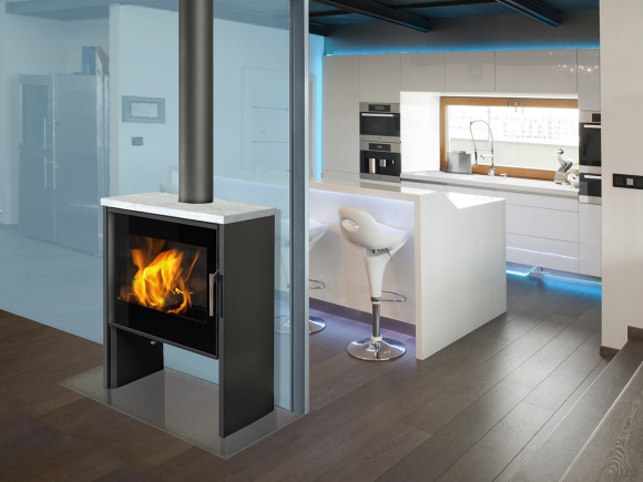 RIANO N 05 steel + serpentine - fireplace stove