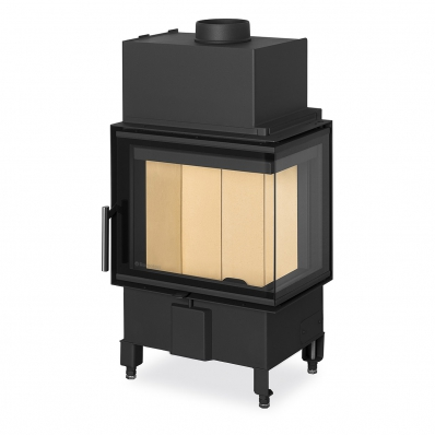 HEAT R/L 2g S 50.44.33.13(23) - corner fireplace insert with bent (split) glazing