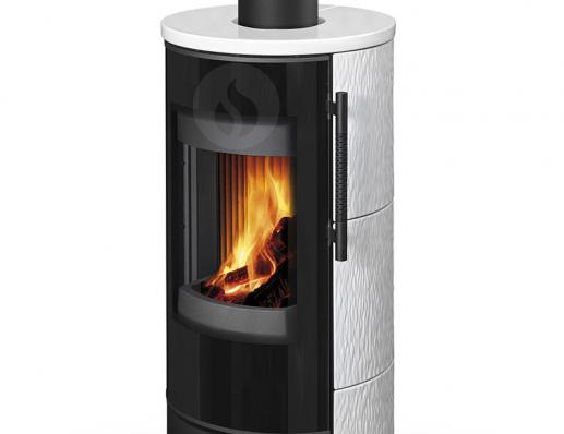 IRUN N 01 ceramic with relief structure - fireplace stove