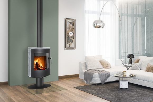 OVALIS T 02 serpentine - revolving fireplace stove