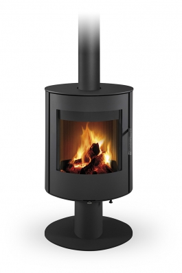 OVALIS T 03 steel - revolving fireplace stove