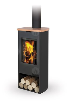 TALA 07 sheet metal + ceramic - fireplace stove