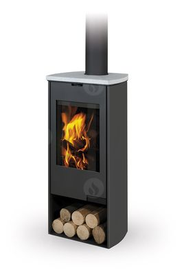 TALA 08 sheet metal + stone - fireplace stove