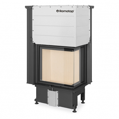 IMPRESSION R/L 2g L 58.60.34.21 - corner fireplace insert with lifting door and split glazing