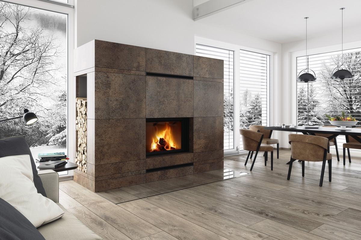 IMPRESSION 2g L 80.60.01 - fireplace insert with lifting door and double glazing