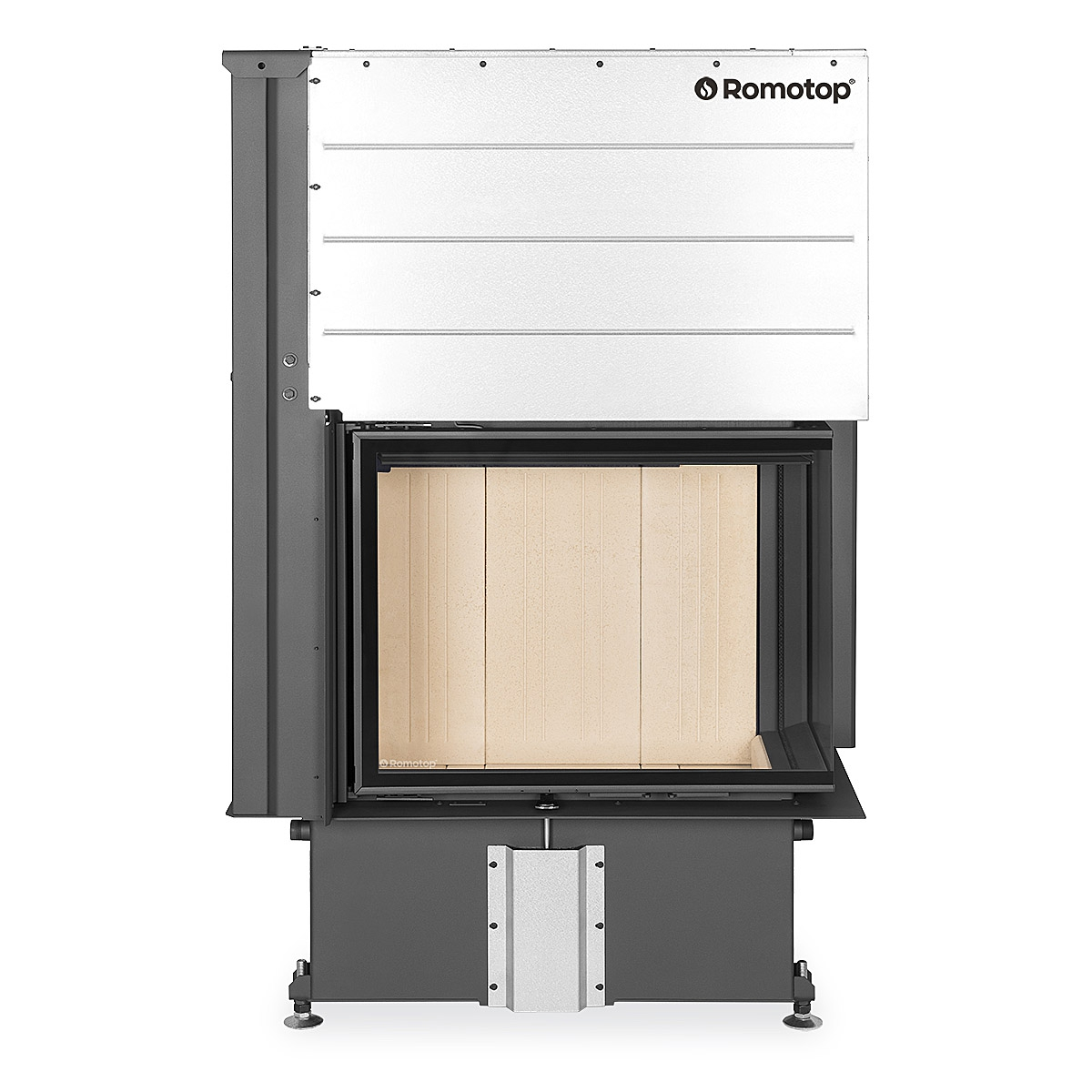 IMPRESSION R/L 2g L 71.60.34.21 - corner fireplace insert with lifting door and split glazing