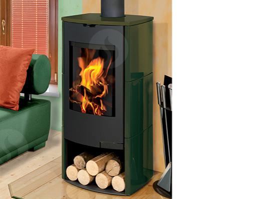 TALA 12 ceramic, radius door - fireplace stove