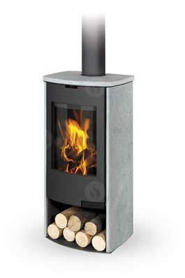 TALA 13 stone, radius door - fireplace stove