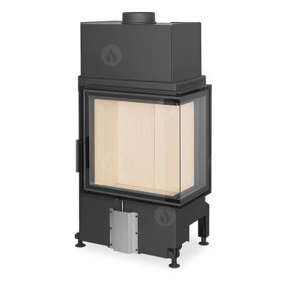 IMPRESSION R/L 2g S 58.60.34.21 - corner fireplace insert with split glazing