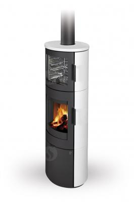 LUGO N 01 BF ceramic - fireplace stove with oven