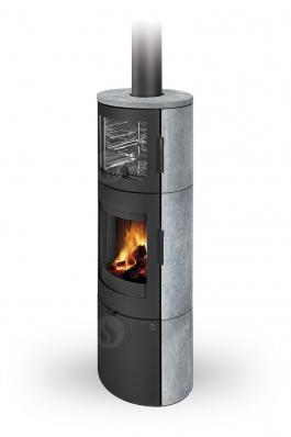 LUGO N 02 BF serpentine - fireplace stove with oven