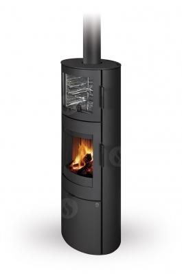 LUGO N 03 BF steel - fireplace stove with oven