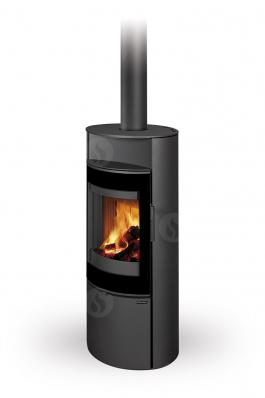 LUGANO 03 steel - fireplace stove