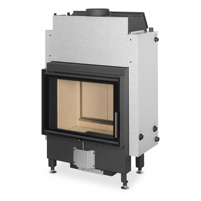 DYNAMIC WB 2g 66.50.01 - fireplace insert with back stoking, double glazing and hot-water exchanger