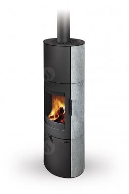 LUGO N 02 A serpentine - fireplace stove