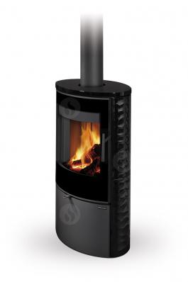 OVALIS G 01 ceramic with relief structure - fireplace stove