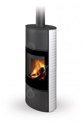 OVALIS G 01 A ceramic with relief structure - fireplace stove