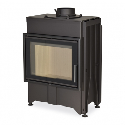 DYNAMIC 2G 66.50.01 - straight fireplace insert with double glazing