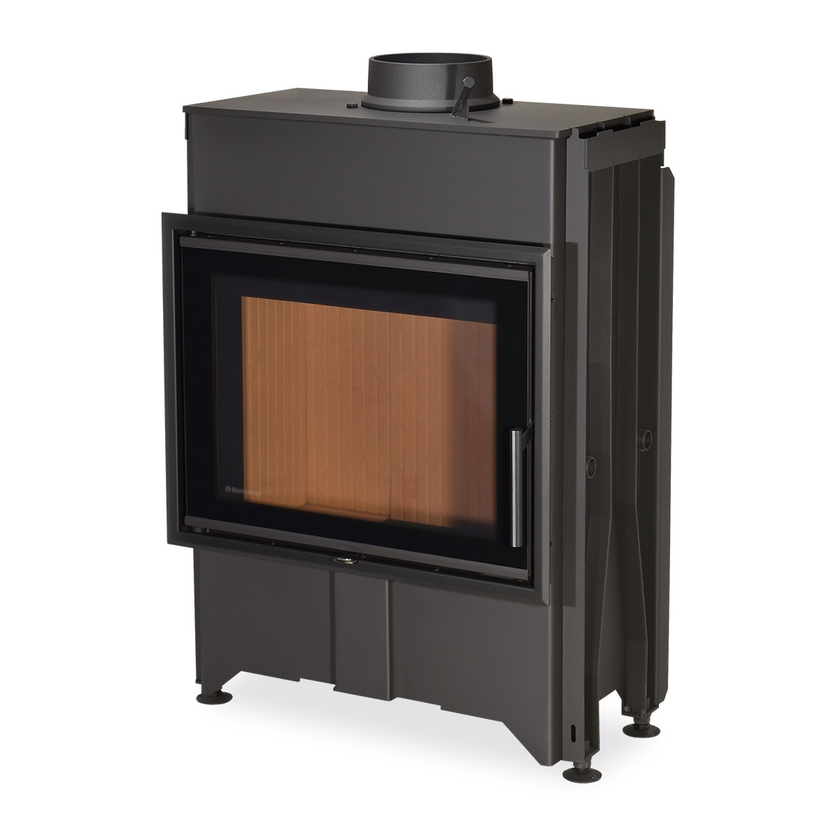 DYNAMIC 2G 66.50.13 - straight fireplace insert with triple glazing