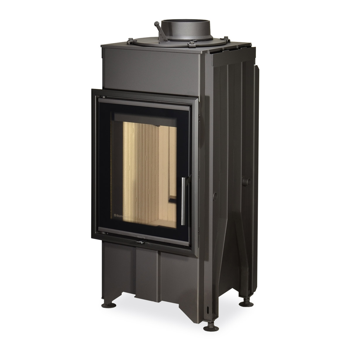 DYNAMIC B2G 44.55.01 - straight fireplace insert with back stoking and double glazing