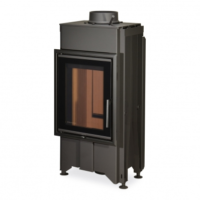 DYNAMIC B2G 44.55.13 - straight fireplace insert with back stoking and triple glazing
