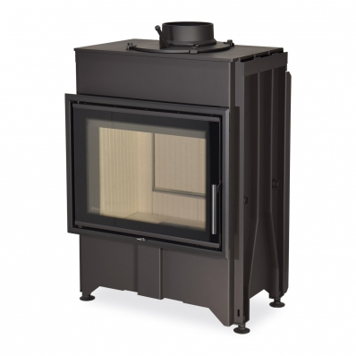 DYNAMIC B2G 66.50.01 - straight fireplace insert with back stoking and double glazing