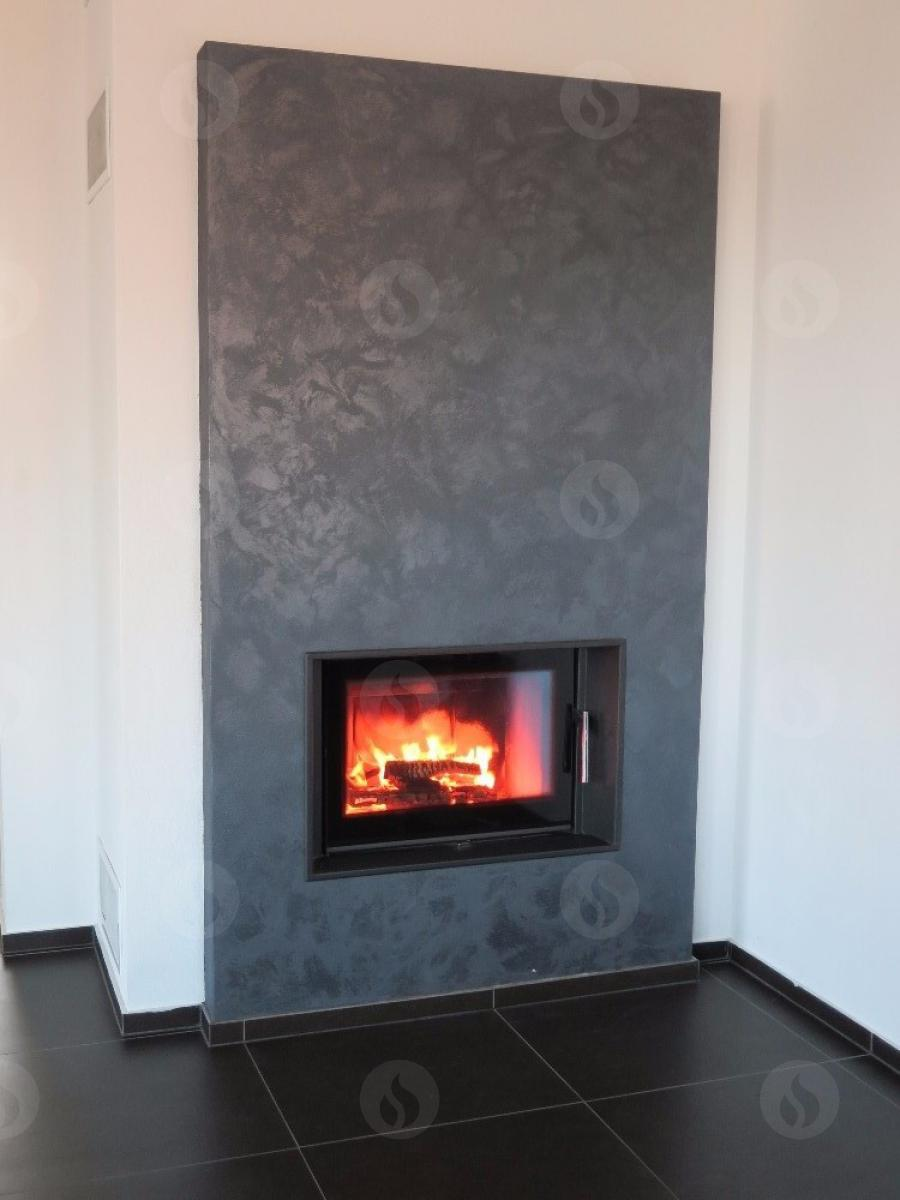KV 025 LN 01 - fireplace insert with double reflective glazing