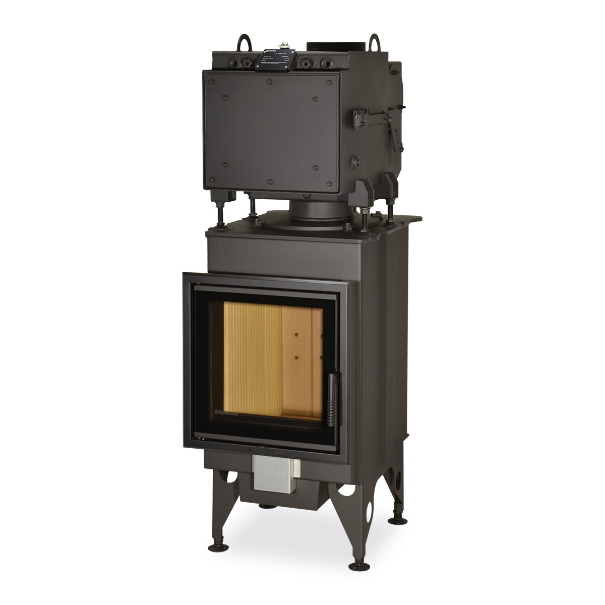 KV 025 N02 - fireplace insert with double glazing and hot-water exchanger