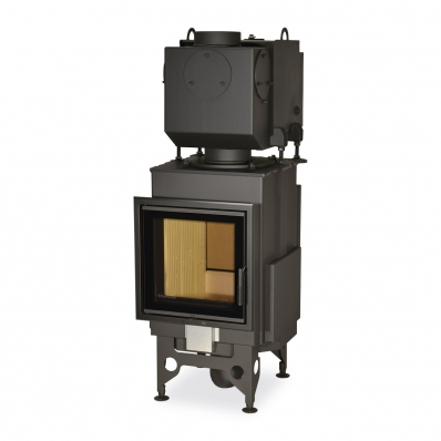 KV 025 N02 BD - fireplace insert with back stoking, double glazing and hot-water exchanger