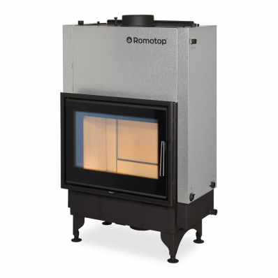 KV 025 W01 BD - fireplace insert with back stoking, double glazing and hot-water exchanger