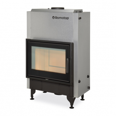 KV 025 W02 BD - fireplace insert with back stoking, triple glazing and hot-water exchanger