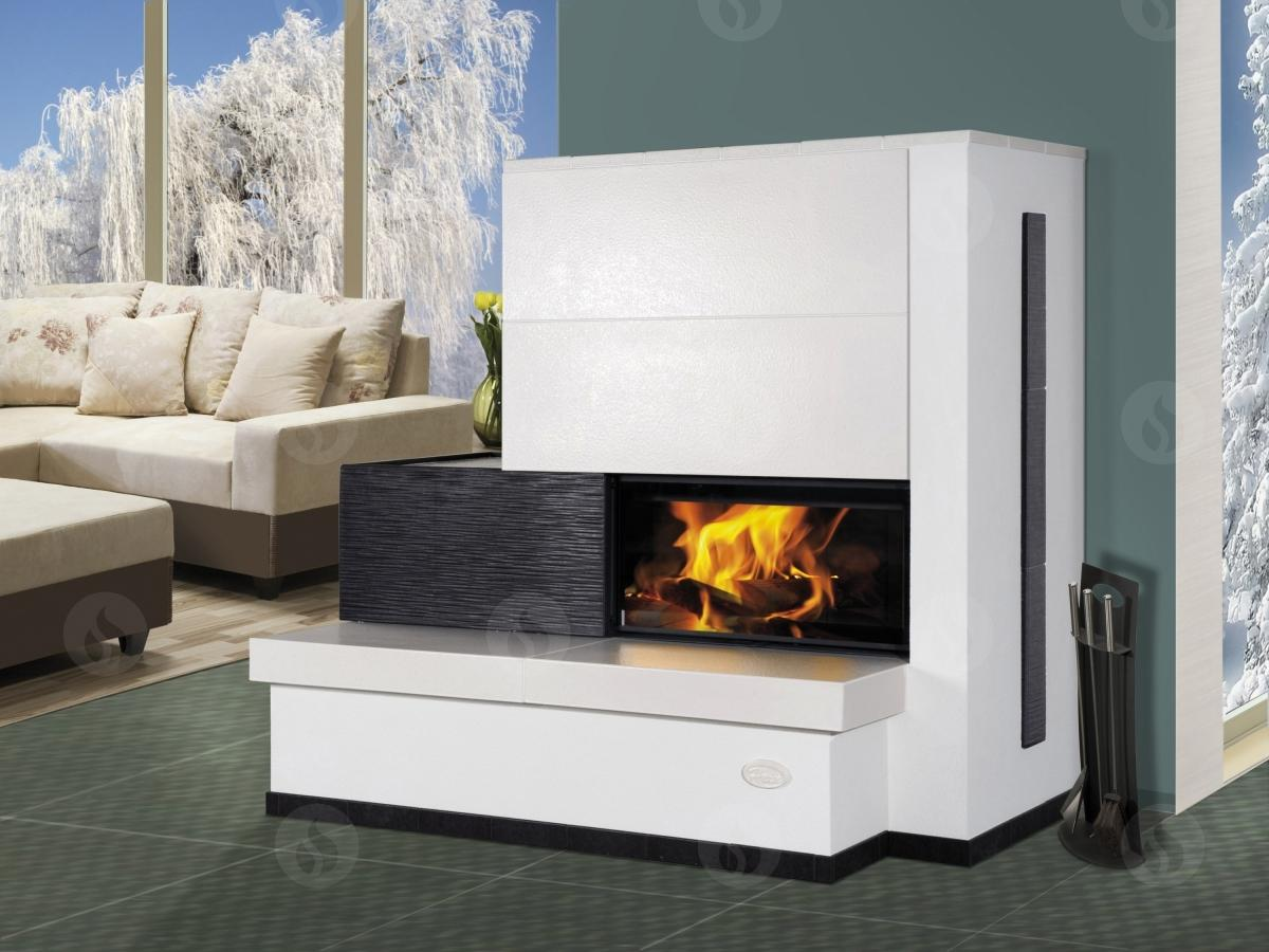 KV 055AN - design fireplace insert with retractable lift door