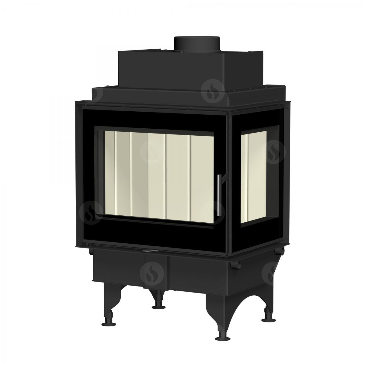KV 6.6.3 L/R - fireplace insert with glazed side wall